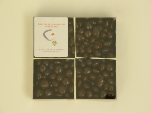 CORTEZA DE NARANJA CON CHOCOLATE