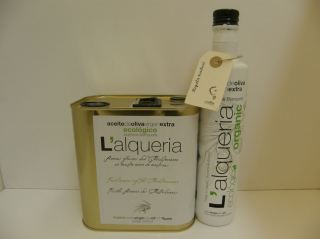 ACEITE OLIVA VIRGEN EXTRA L'ALQUERIA  ORGANIC blanqueta